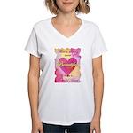 Grateful Heart Women's V-Neck T-Shirt