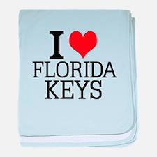 I Love Florida Keys baby blanket