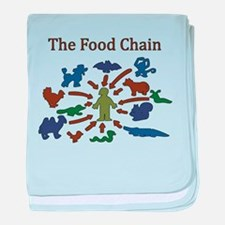 The Food Chain baby blanket