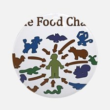 The Food Chain Round Ornament