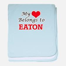 My Heart belongs to Eaton baby blanket
