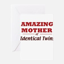 Amazing Mother (Identical Twi Greeting Card