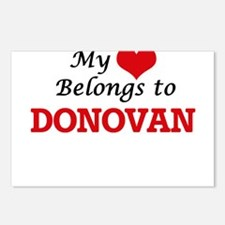My Heart belongs to Donov Postcards (Package of 8)