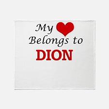 My Heart belongs to Dion Throw Blanket