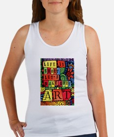 Let's Make Art! Quote for Artist Tank Top