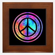 Warped Peace Sign Framed Tile