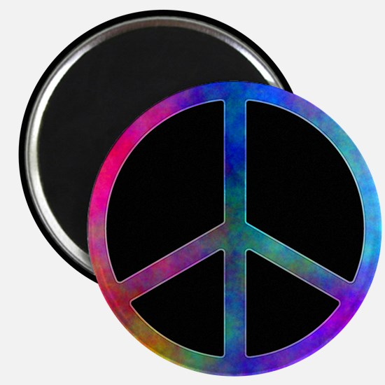 Multicolored Peace Sign Magnets