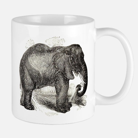 Vintage Elephant Illustration (1891) Mugs