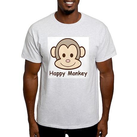 Happy Monkey Ash Grey T-Shirt
