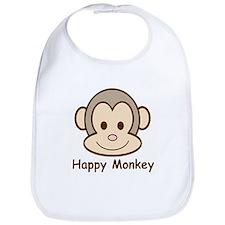 Happy Monkey Bib