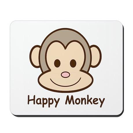 Happy Monkey Mousepad