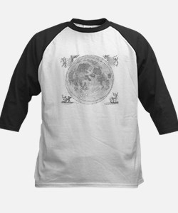 Vintage Map of The Moon (1647) Baseball Jersey