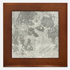 Vintage Map of The Moon (1647) Framed Tile