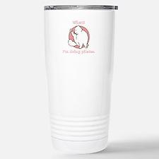 Unique Pilates cat Travel Mug