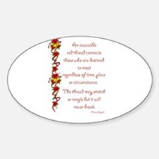 Red Thread Oval Decal