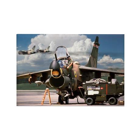 A-7D Corsair II Aircraft Rectangle Magnet