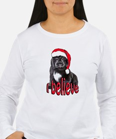 Christmas Newf puppy Long Sleeve T-Shirt