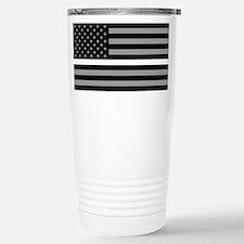 EMS: Black Flag & Thin Stainless Steel Travel Mug