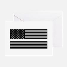EMS: Black Flag & Thin White Line Greeting Card