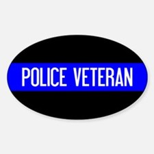 Police: Police Veteran & The Thin B Decal