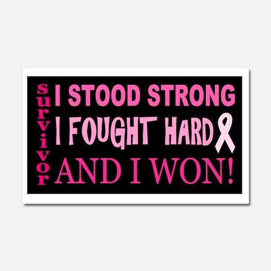 I Stood Strong Car Magnet 20 x 12