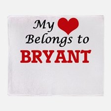 My Heart belongs to Bryant Throw Blanket
