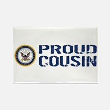 U.S. Navy: Proud Cousin (Blue & W Rectangle Magnet