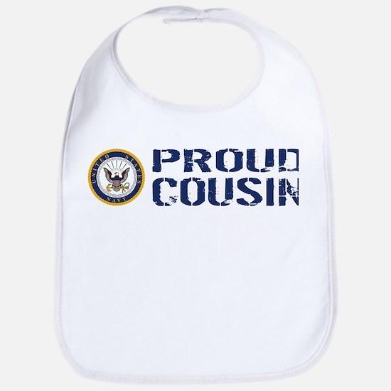 U.S. Navy: Proud Cousin (Blue) Bib