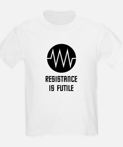 Resistance is Futile (With symbol, Light) T-Shirt
