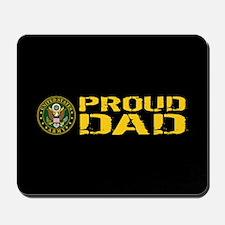 U.S. Army: Proud Dad (Black & Gold) Mousepad