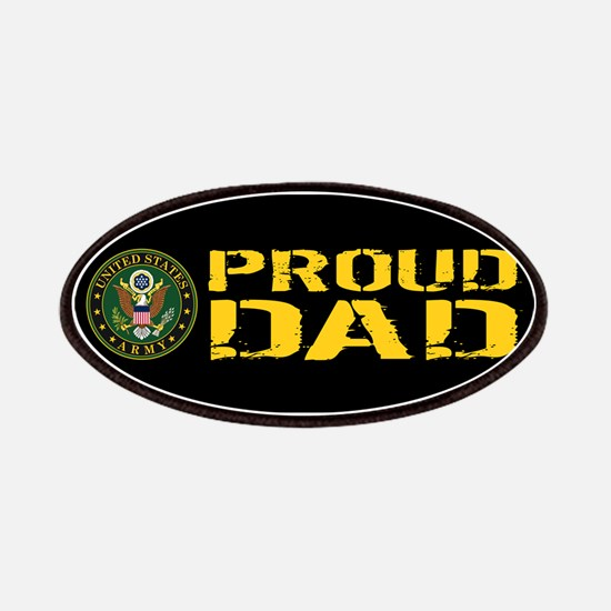 U.S. Army: Proud Dad (Black & Gold) Patch
