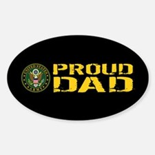 U.S. Army: Proud Dad (Black & Gold) Decal