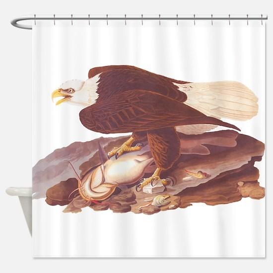 Bald Eagle Vintage Audubon Art Shower Curtain
