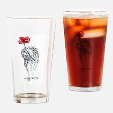 Owl & Poppy Drinking Glass