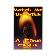 Match Me Up Cigar Rectangle Magnet
