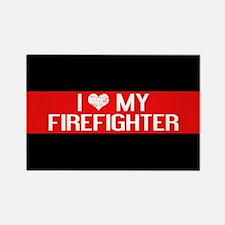 Firefighter: I Love My Firefighte Rectangle Magnet