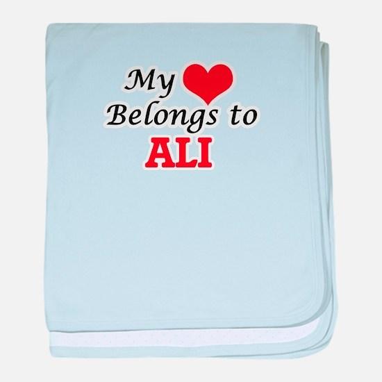 My Heart belongs to Ali baby blanket