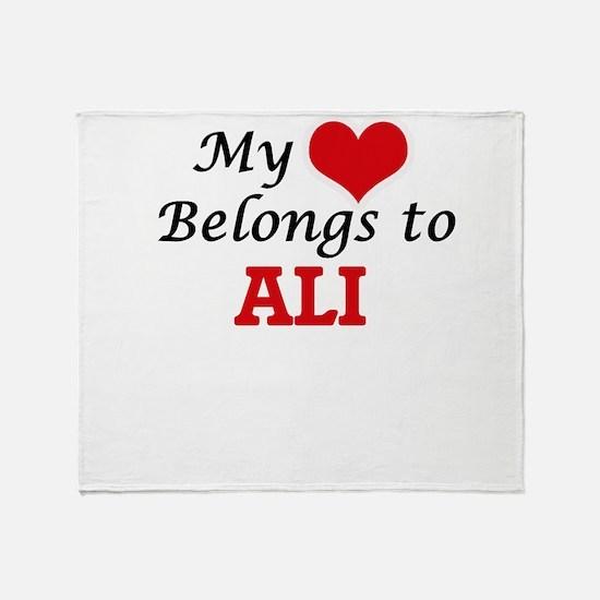 My Heart belongs to Ali Throw Blanket