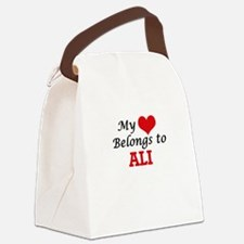 My Heart belongs to Ali Canvas Lunch Bag