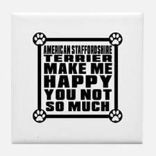 American Staffordshire Terrier Dog Ma Tile Coaster