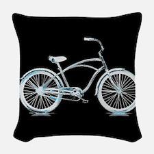Iceberg Bike Woven Throw Pillow