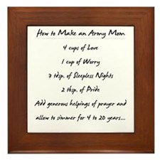 """Army Mom Recipe"" Framed Tile"
