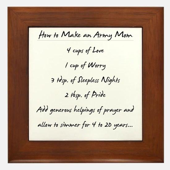"""""""Army Mom Recipe"""" Framed Tile"""