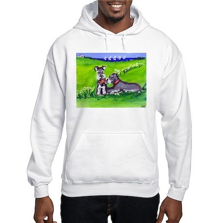 SCHNAUZER tug o war Design Hooded Sweatshirt