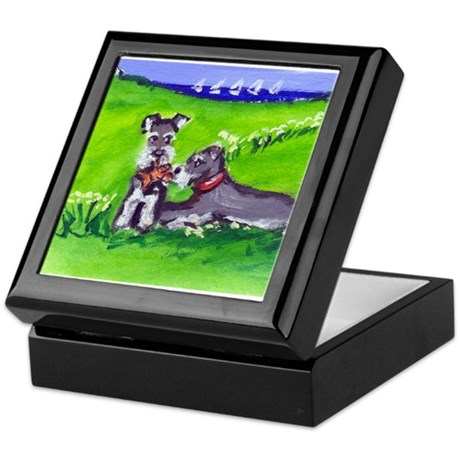 SCHNAUZER tug o war Design Keepsake Box