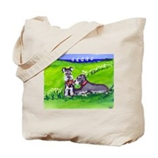 SCHNAUZER tug o war Design Tote Bag