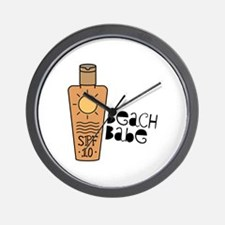 Beach Babe Wall Clock