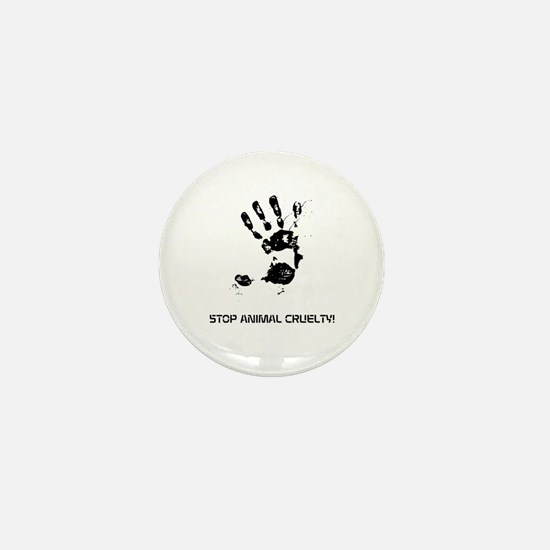 Stop Animal Cruelty! Mini Button (100 Pack)