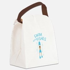 Swim With Fishes Canvas Lunch Bag