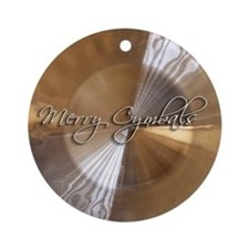 merry cymbals Ornament (Round)